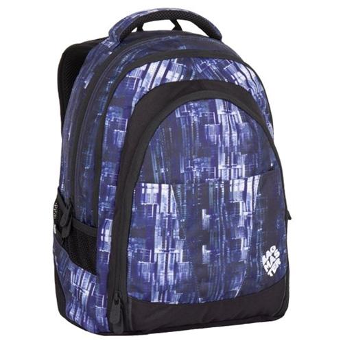 BAGMASTER - Študentský batoh DIGITAL 7 CH BLUE/BLACK