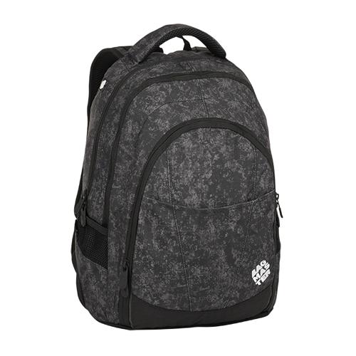 BAGMASTER - Študentský batoh DIGITAL 8 E BLACK/GRAY