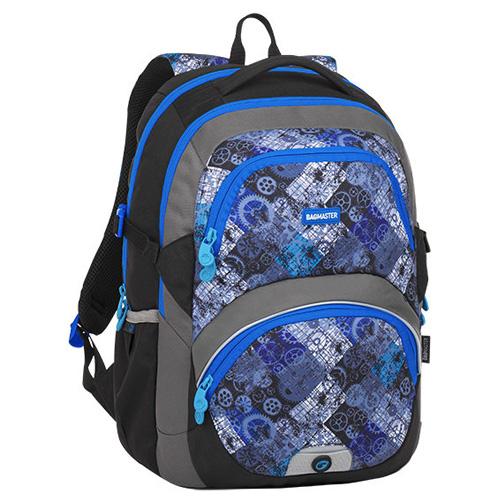 BAGMASTER - Študentský batoh THEORY 8 D BLACK/BLUE/GRAY