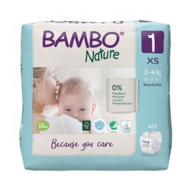 BAMBO - Nature Jednorázové plienky 1, 22 ks, pre 2-4 kg