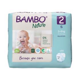 BAMBO - Nature Jednorázové plienky 2, 30 ks, pre 3-6 kg