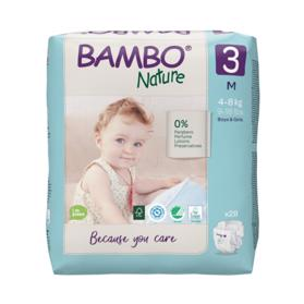 BAMBO - Nature Jednorázové plienky 3, 28 ks, pre 4-8 kg