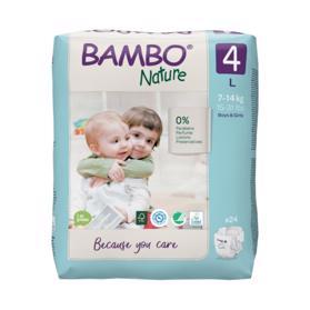 BAMBO - Nature Jednorázové plienky 4, 24 ks, pre 7-14 kg