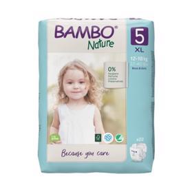 BAMBO - Nature Jednorázové plienky 5, 22 ks, pre 12-18 kg