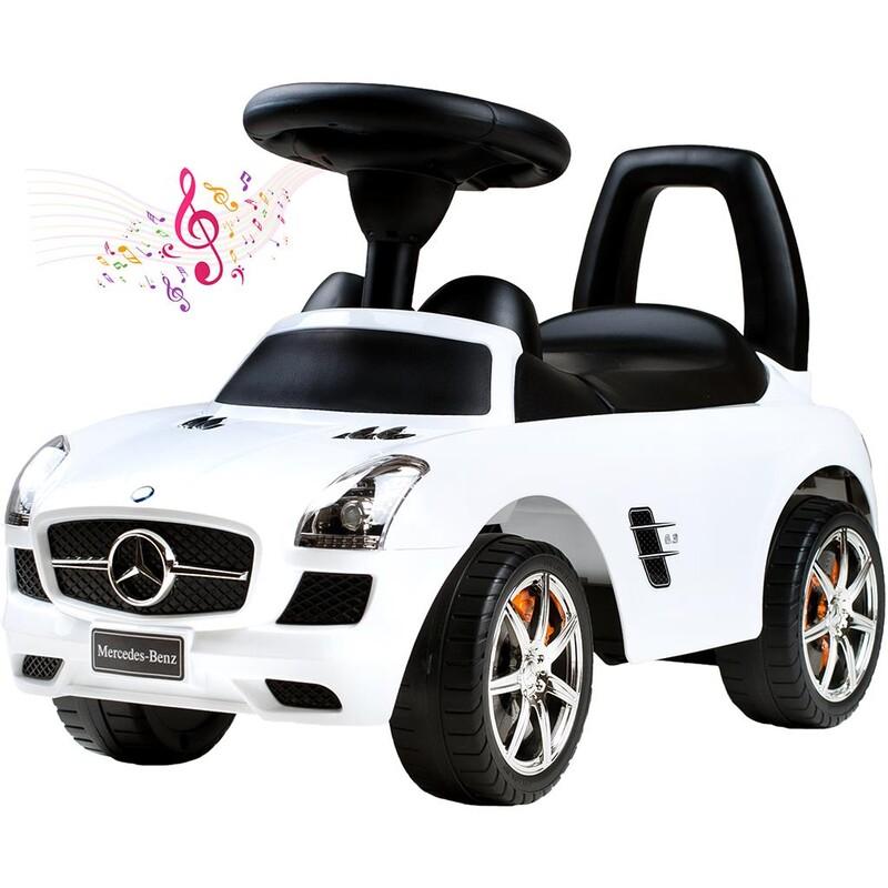 BAYO - Detské jazdítko-odrážadlo Mercedes-Benz white