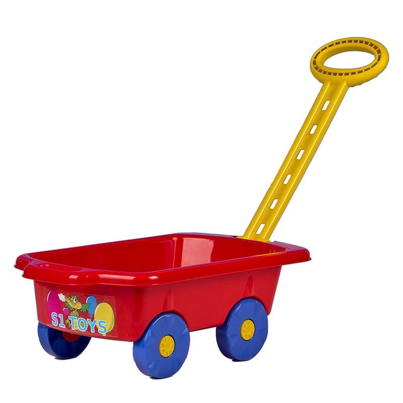 BAYO - Detský vozík Vlečka 45 cm červený