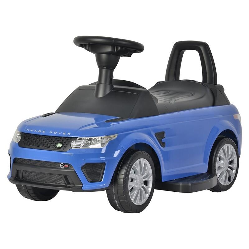 BAYO - Elektrické autíčko-odrážadlo 2v1 Range Rover Sport SVR blue
