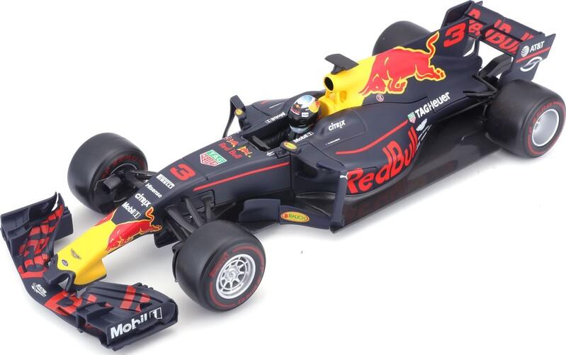 BBURAGO - 1:18 Race F1 Red Bull racing Tag Heuer RB13 (nr.3 Daniel Riccardo)