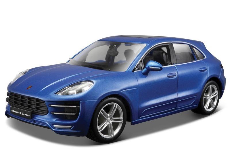 BBURAGO - 1:24 KIT (Stavebnica) Porsche Macan Metallic Blue