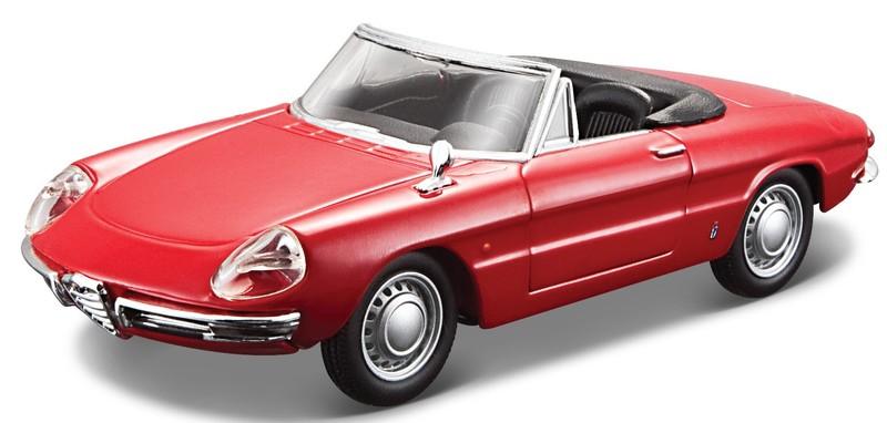 BBURAGO - 1:32 Classic Alfa Romeo Spider (1966) Red