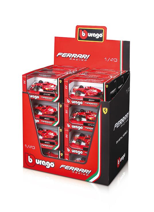 BBURAGO - 1:43 Ferrari Racing F1, Mix Produktov