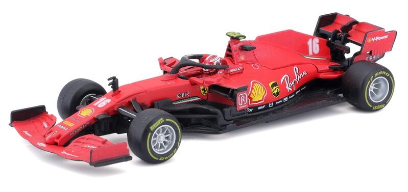 BBURAGO - 1:43 Ferrari Racing F1 SF90 2019 with helmet Charles Leclerc nr.16