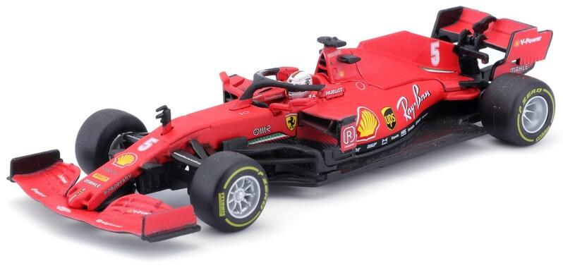 BBURAGO - 1:43 Ferrari Racing F1 SF90 2019 with helmet Sebastian Vettel nr.5