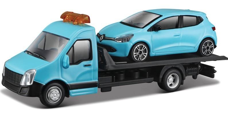 BBURAGO - 1:43 Odťahovka + Renault Clio modré