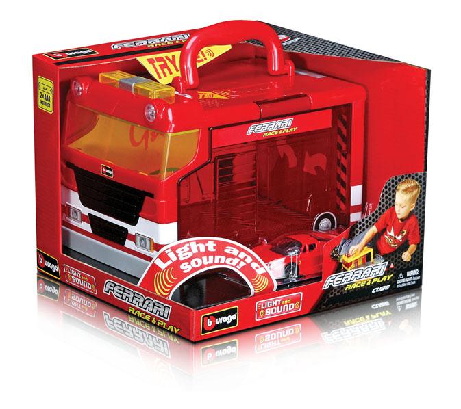 BBURAGO - Ferrari Cube Garáž s jedným autíčkom