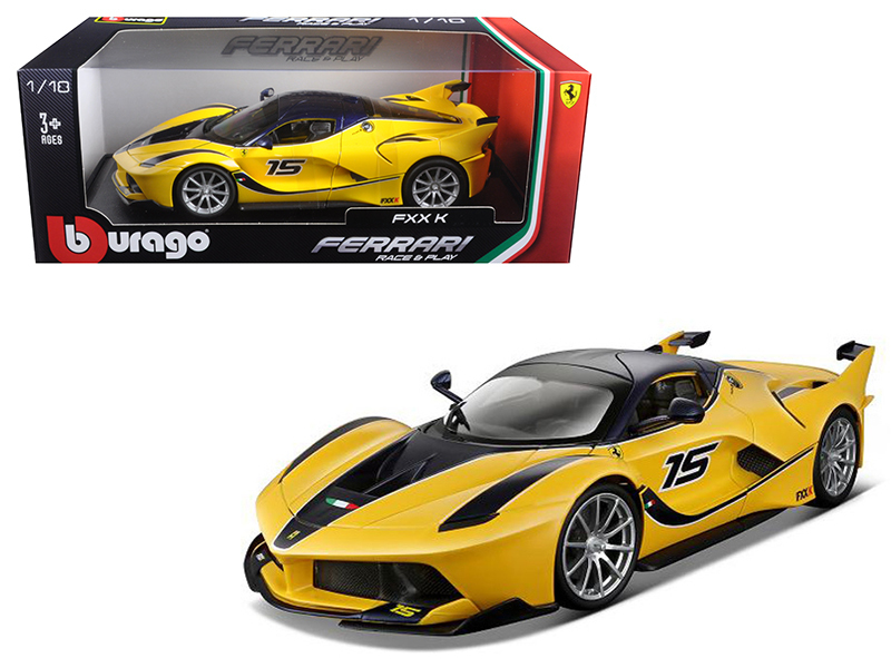BBURAGO - Ferrari FXX K 1:18 Yellow