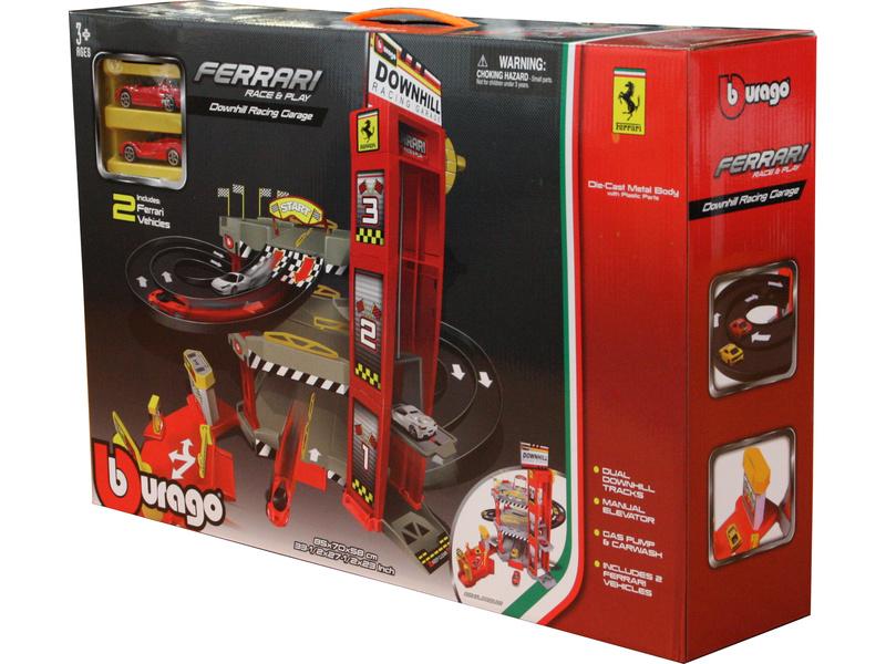 BBURAGO - Ferrari Garáž Racing Downhill s dvoma autíčkami 56096