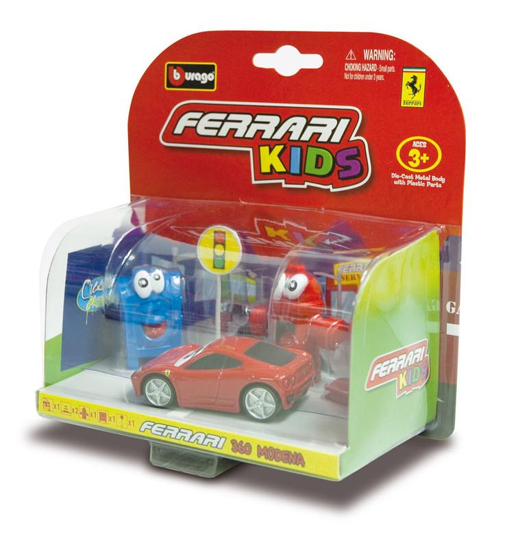 BBURAGO - Ferrari Kids Autíčko s príslušenstvom asort