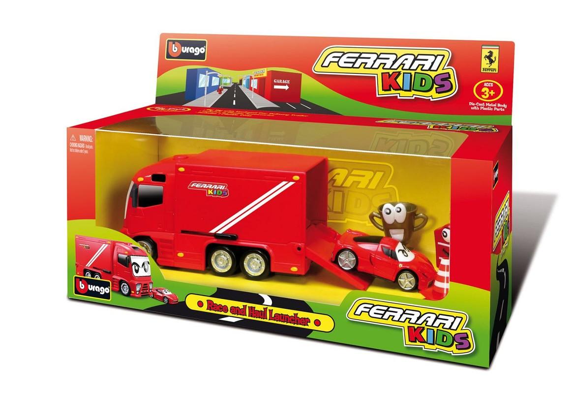 BBURAGO - Ferrari Kids Race & Haul Launcher nákladné auto