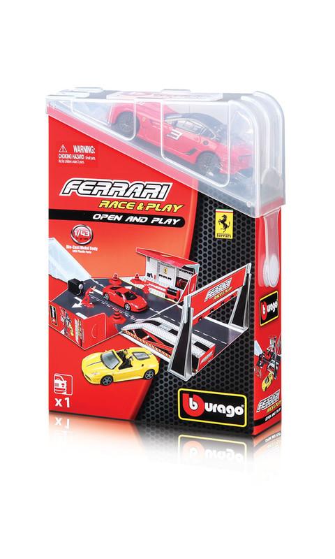 BBURAGO - Ferrari Open & Play Hrací set s autíčkom