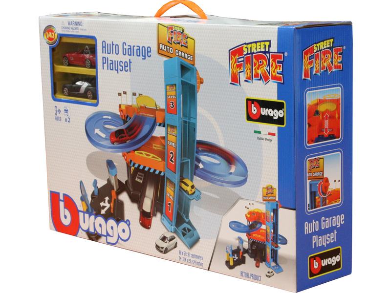 BBURAGO - Garáž Street Fire Down Hill s dvoma autíčkami 30361