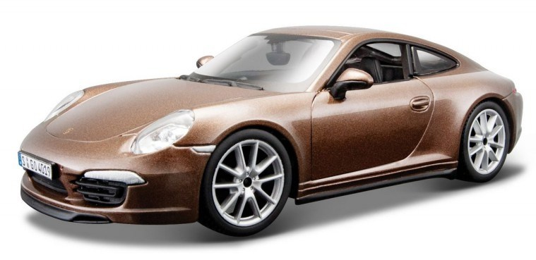 BBURAGO - Porsche 911 Carrera S 1:24 Brown PLUS