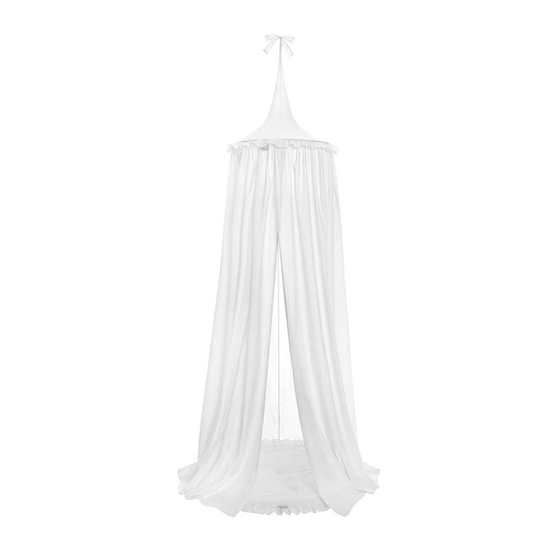 BELISIMA - Závesný stropný luxusný baldachýn + podložka biely