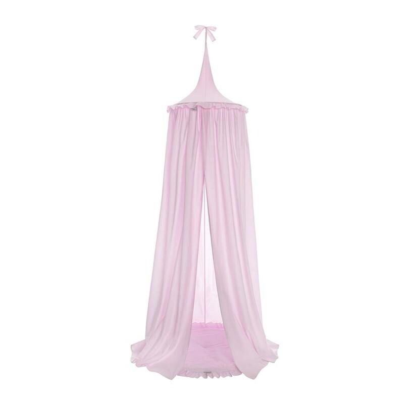 BELISIMA - Závesný stropný luxusný baldachýn + podložka ružový