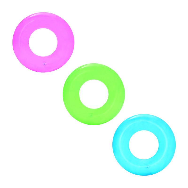 BESTWAY - 36022 Nafukovacie koleso Neon 51cm - modrá
