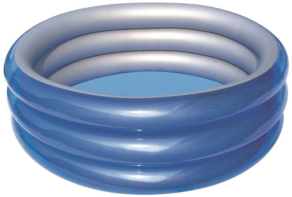 BESTWAY - 51042 Nafukovací bazén modrá metalíza 183x33cm