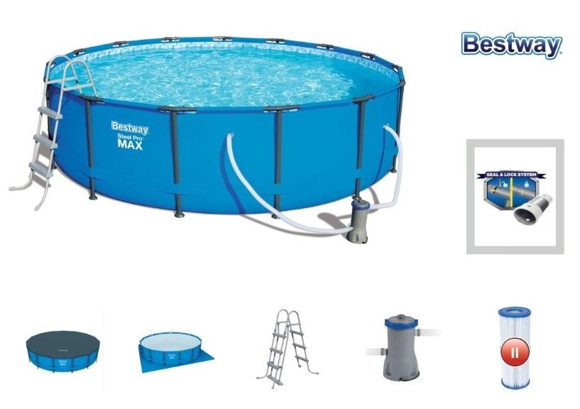 BESTWAY - 56488 7v1 bazén s konštrukciou, 457x107cm