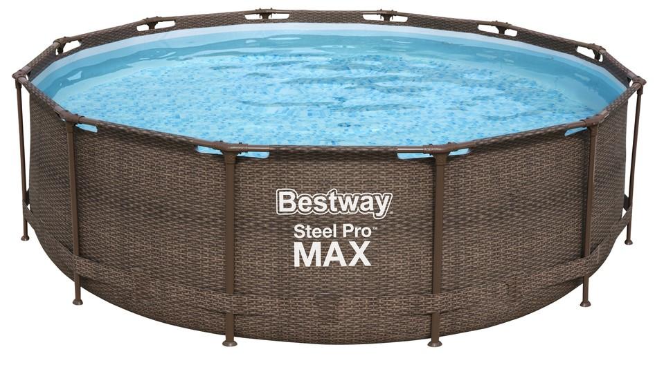 BESTWAY - 56709 bazén Steel Pro Frame Rattan 3,66x1m