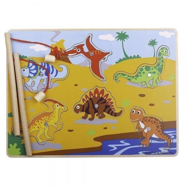 BIGJIGS - drevené magnetické puzzle - dinosaury