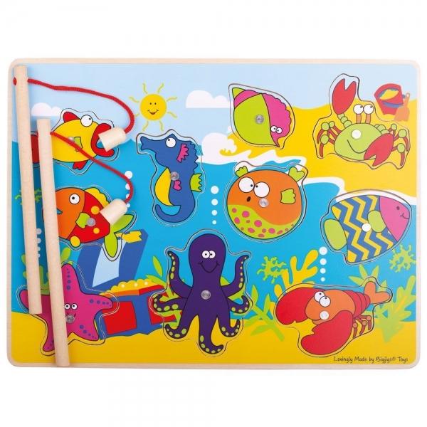 BIGJIGS - drevené magnetické puzzle - morský svet