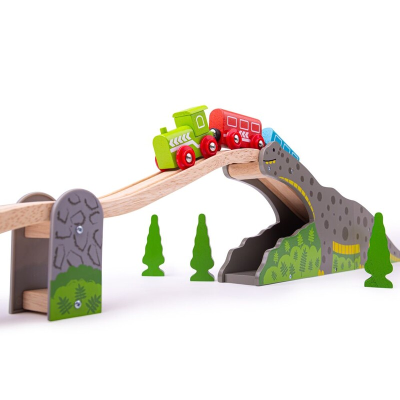 BIGJIGS - Rail Dinosaurí most