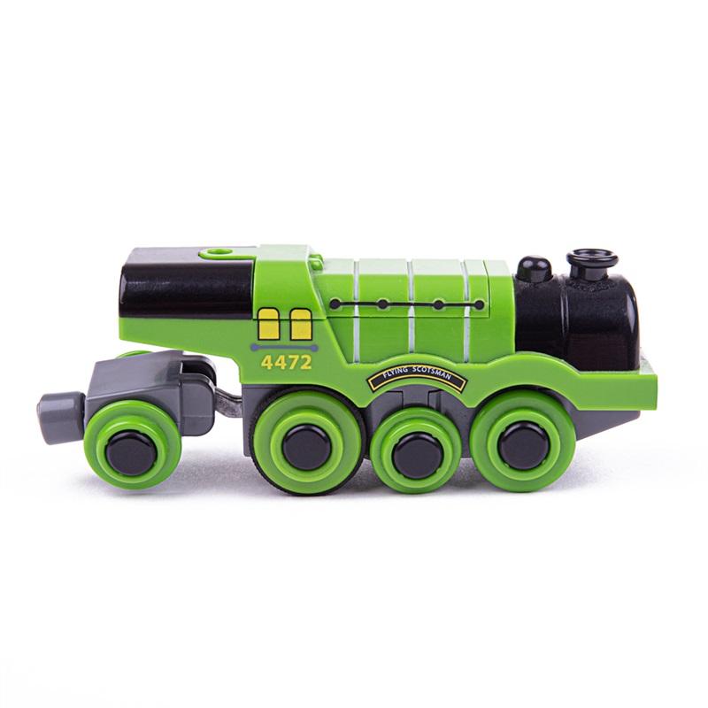 BIGJIGS - Rail Elektrická lokomotíva Flying Scotsman zelená