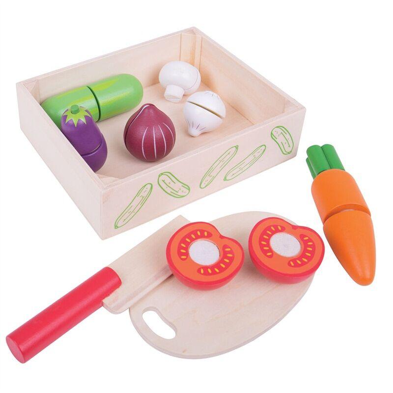 BIGJIGS - Toys Krájanie zeleniny v krabici