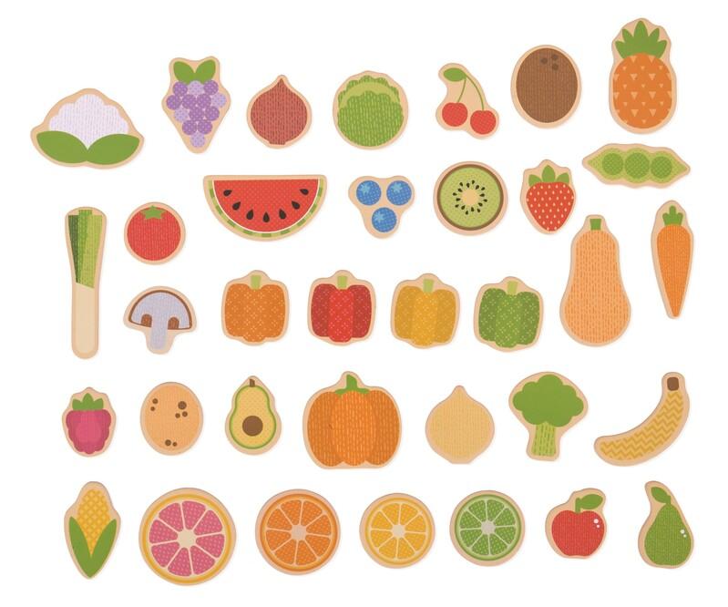 BIGJIGS - Toys Magnetky ovocie a zelenina