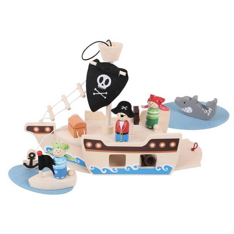 BIGJIGS - Toys Pirátská loď s piráty