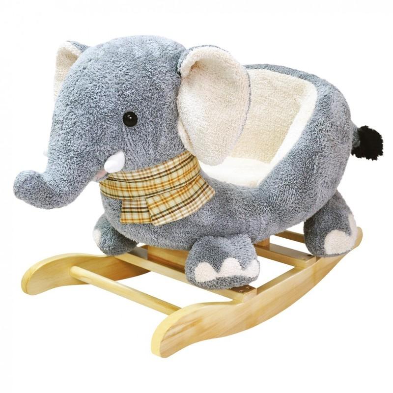 BINO - 82547 Hojdací plyšový sloník