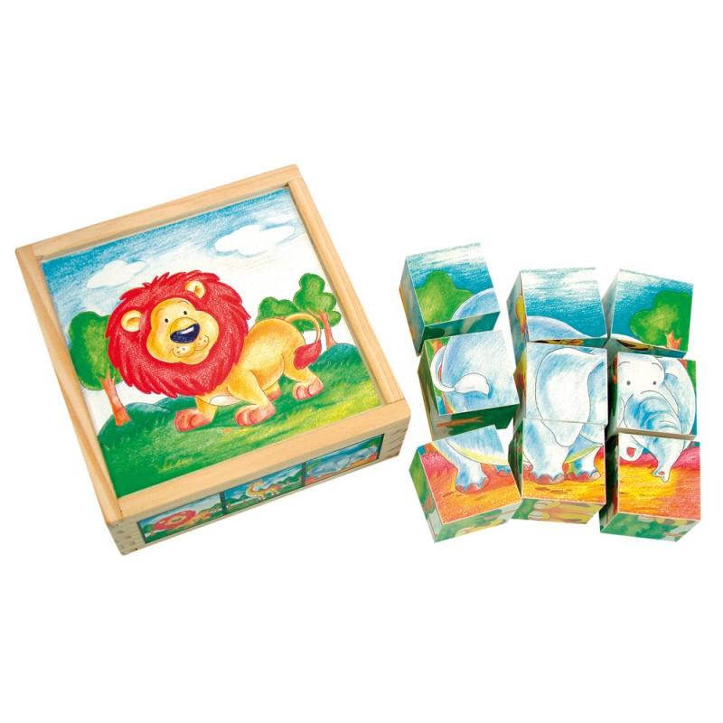 Bino - 84174 Kocky Divoké zvieratká v krabičke 9 kusov,