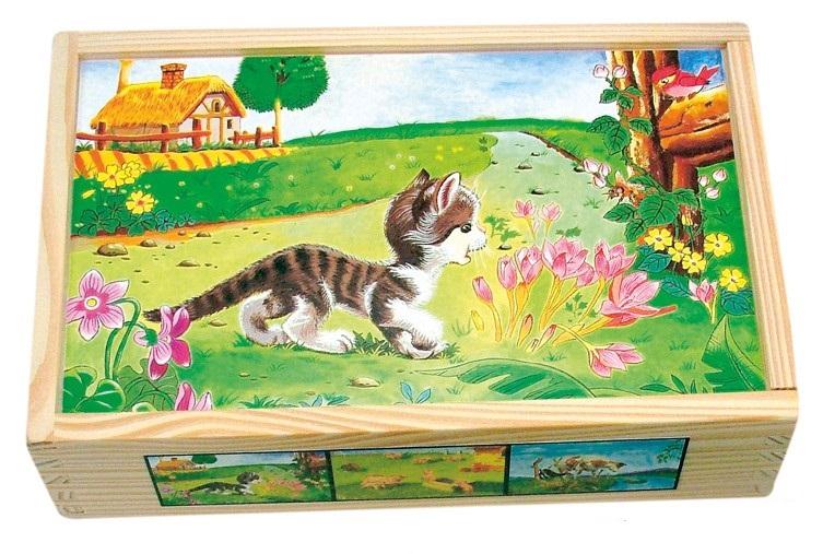 Bino - 84175 Kocky Domáce zvieratká v krabičke 15 kusov
