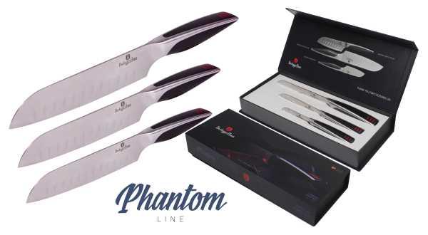 BLAUMANN - Sada nožov 3 ks - čierna, BH-2024
