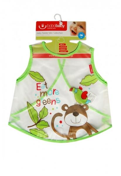 BOBO BABY - Detská zásterka Opička - zelená