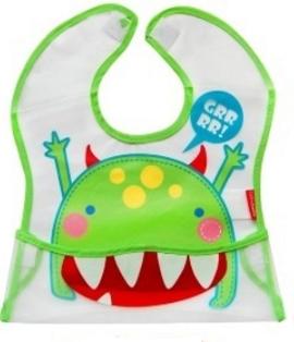 BOBO BABY - Detská zásterka Príšerka - zelená
