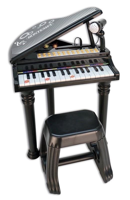 BONTEMPI - Detské elektronické Grand piano so stoličkou a mikrofónom 103000