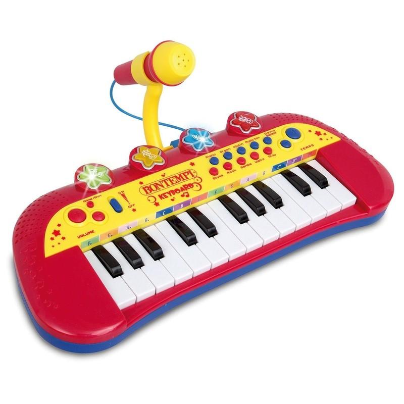 BONTEMPI - detské elektronické klávesy s mikrofónom 122931