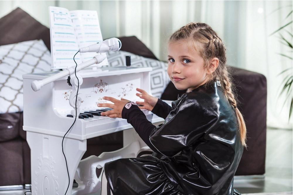 BONTEMPI - Detské elektronické Piano so stoličkou a mikrofónom 108000
