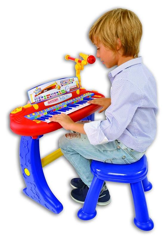 BONTEMPI - Detské elektronické piano so stoličkou a mikrofónom 133441
