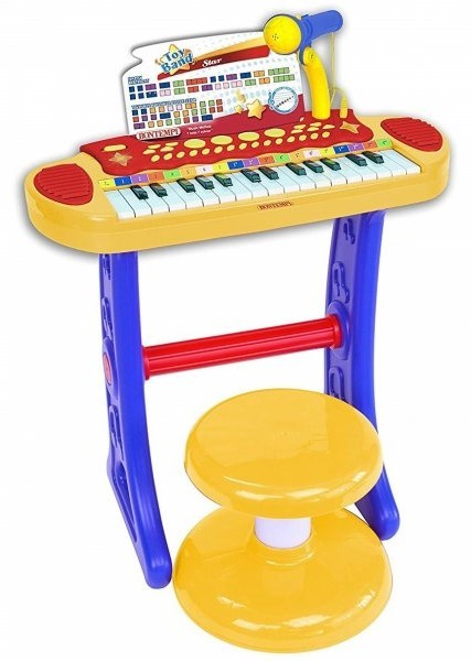 BONTEMPI - Detské elektronické piano so stoličkou a mikrofónom 133242